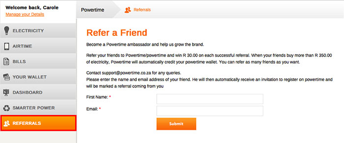 refer a friend Powertime