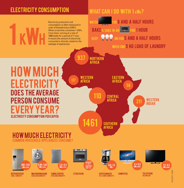 Who Use Electricity In South Africa