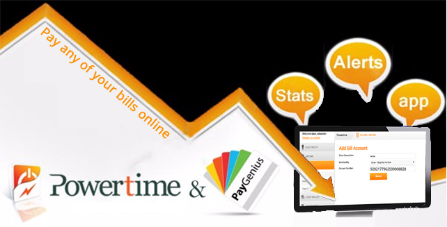 Pay your bill online in 1 click on Powertime